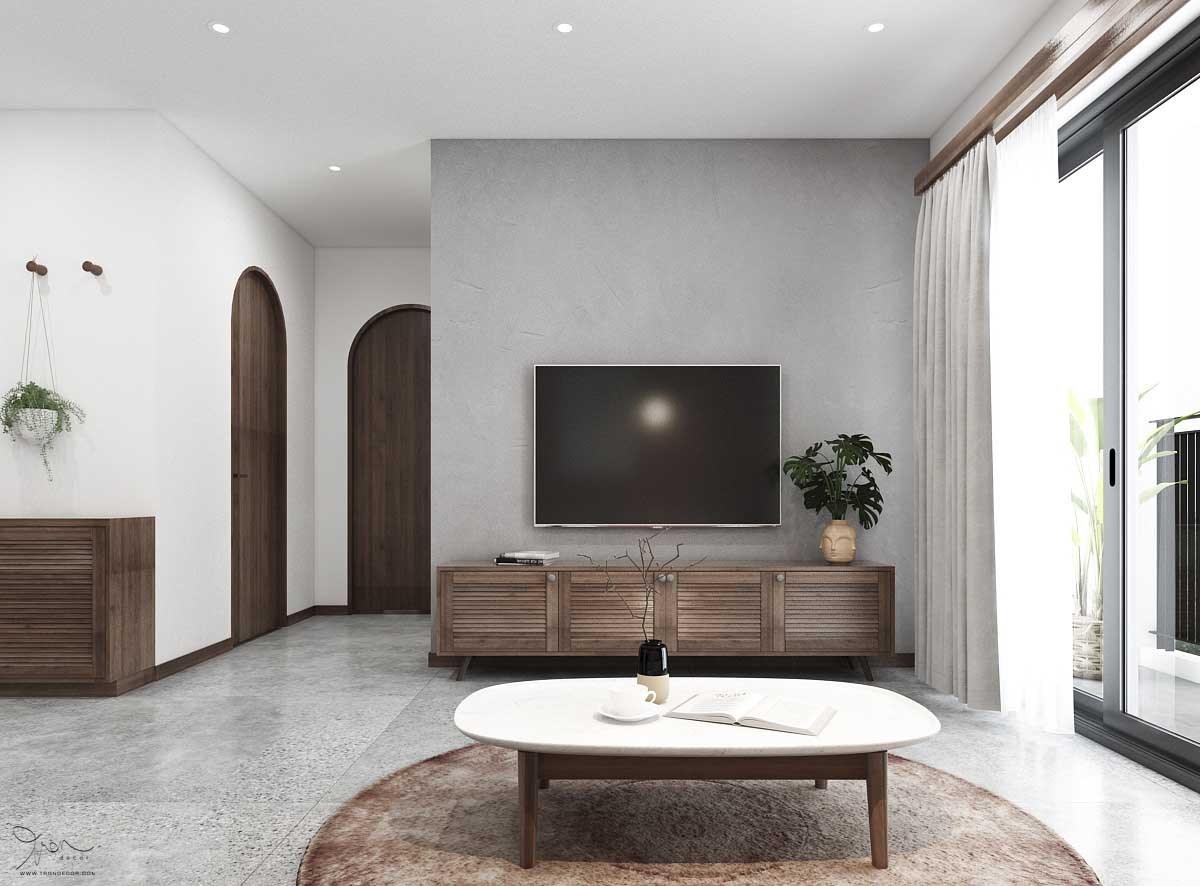 Căn hộ Palm City 2 Phòng Ngủ thiết kế từ Tròn Decor 01