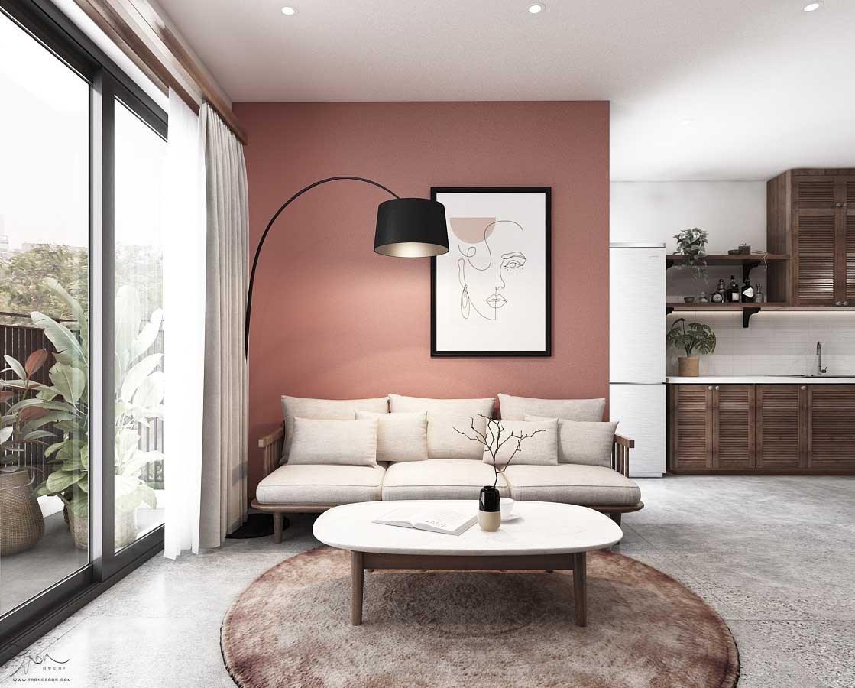 Căn hộ Palm City 2 Phòng Ngủ thiết kế từ Tròn Decor 02