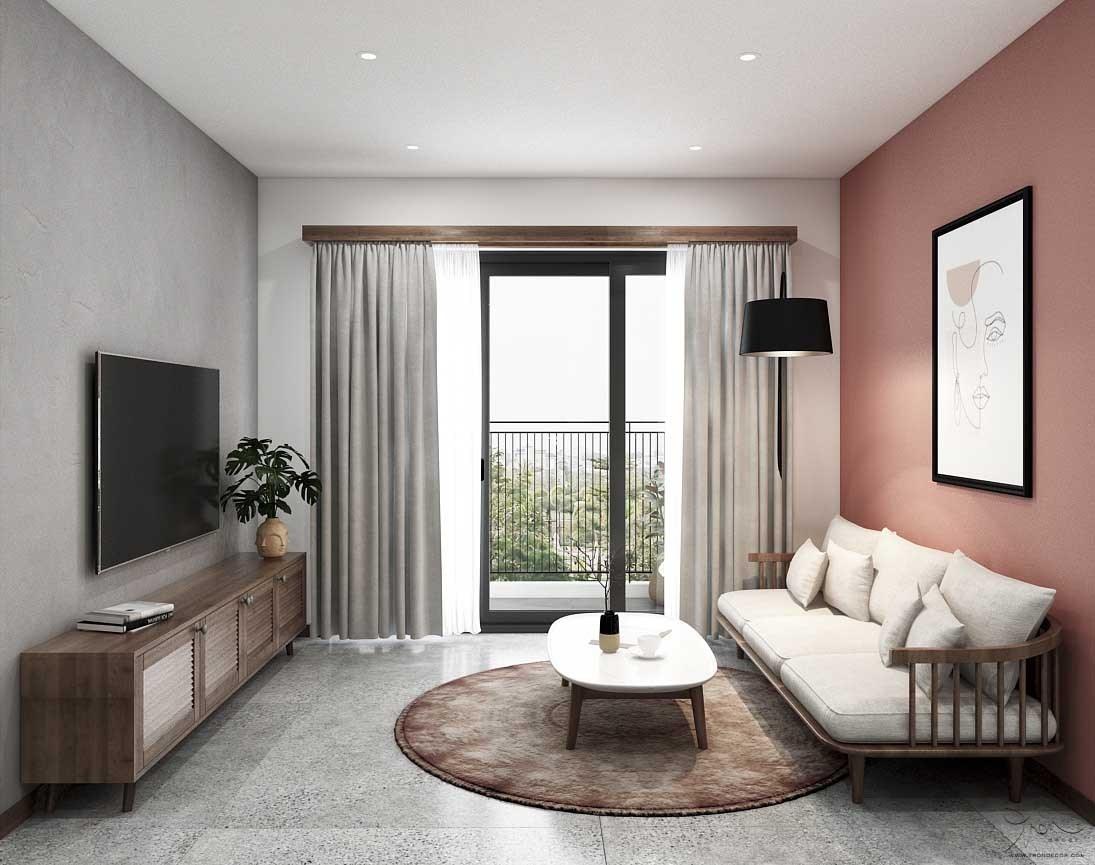 Căn hộ Palm City 2 Phòng Ngủ thiết kế từ Tròn Decor