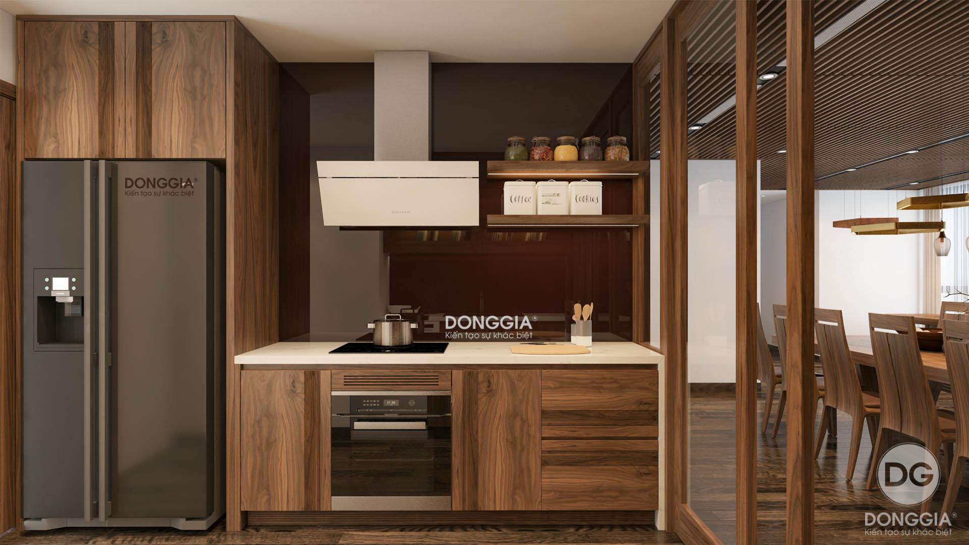 thiết kế phòng bếp vinhomes mrtropolis