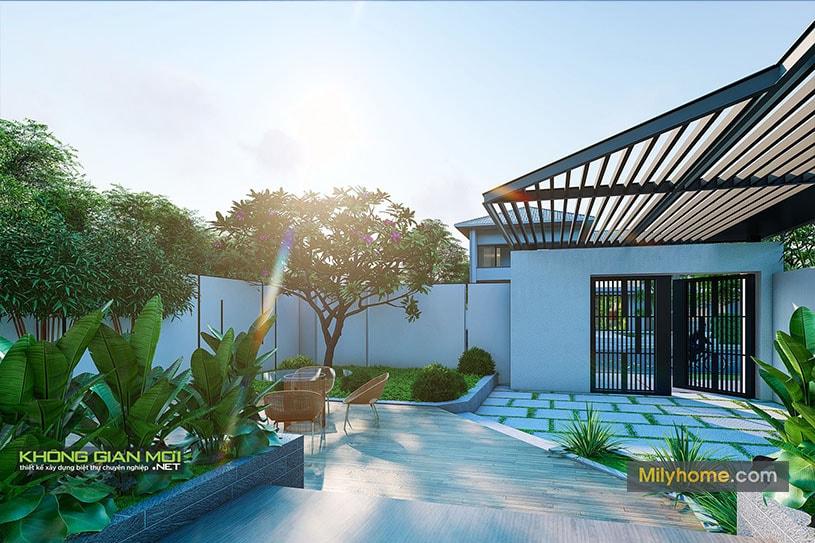 những mẫu biệt thự đẹp thiết kế từ không giam mới 012