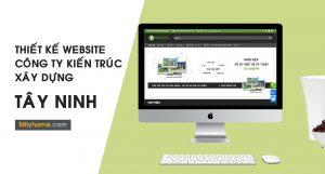 thiết kế website cty kiến trúc xây dựng tại Tây Ninh