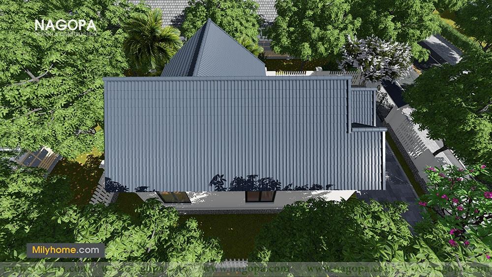 Chiêm Ngưỡng Biệt thự 1 tầng mái thái thiết kế từ NAGOPA 010