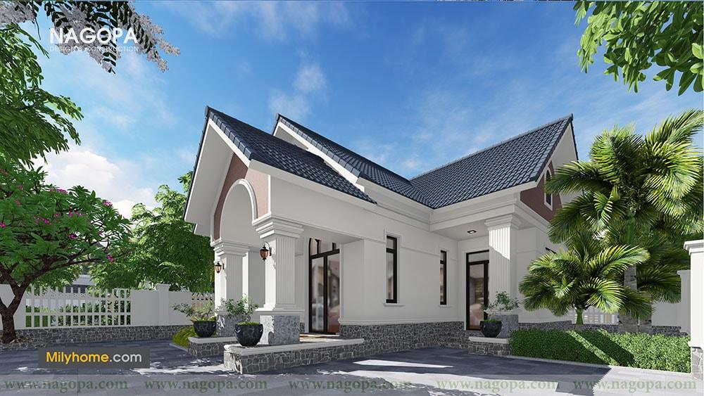 Chiêm Ngưỡng Biệt thự 1 tầng mái thái thiết kế từ NAGOPA 03