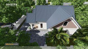 Chiêm Ngưỡng Biệt thự 1 tầng mái thái thiết kế từ NAGOPA 07