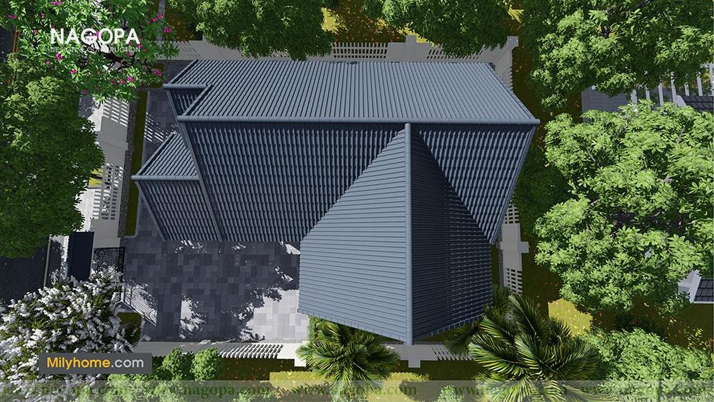 Chiêm Ngưỡng Biệt thự 1 tầng mái thái thiết kế từ NAGOPA 08