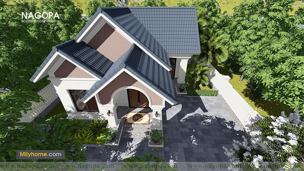 Chiêm Ngưỡng Biệt thự 1 tầng mái thái thiết kế từ NAGOPA 09