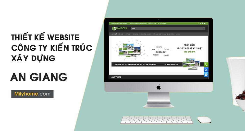 Thiết Kế Website Cty Kiến Trúc Xây Dựng tại An Giang
