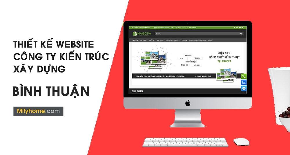 Thiết Kế Website Cty Kiến Trúc Xây Dựng tại Bình Thuận