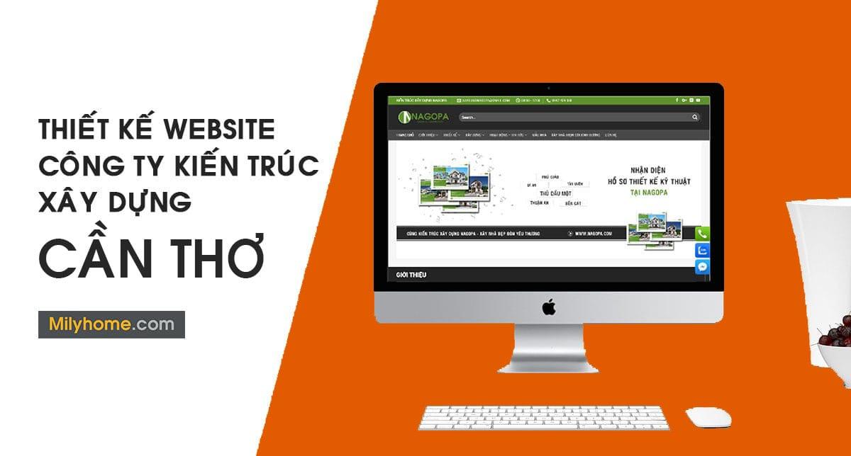 Thiết Kế Website Cty Kiến Trúc Xây Dựng tại Cần Thơ