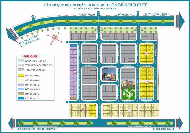 quy hoạch phân lô khu đô thị tà bế gold city